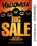 halloween sale. vector... | Shutterstock .eps vector #504486883
