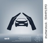 car insurance icon  on white... | Shutterstock .eps vector #504491593