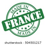 made in france green round stamp | Shutterstock .eps vector #504501217