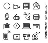 communication icons | Shutterstock .eps vector #504508357