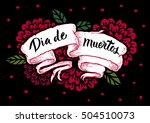 day of the dead vector card.... | Shutterstock .eps vector #504510073