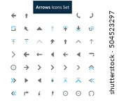 blue and gray arrow icon set | Shutterstock .eps vector #504523297