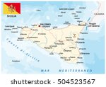 road map of the italian... | Shutterstock .eps vector #504523567
