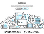 illustration of vector modern... | Shutterstock .eps vector #504523903