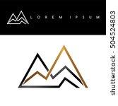 overlapped line mountains... | Shutterstock .eps vector #504524803