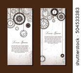 vintage clock vector banner... | Shutterstock .eps vector #504533383