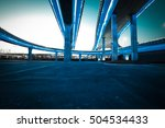 empty road floor with city... | Shutterstock . vector #504534433