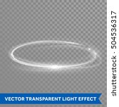 white circle light with tracing ... | Shutterstock .eps vector #504536317