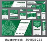 templates green web banners of... | Shutterstock .eps vector #504539233