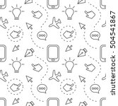 decorative seamless pattern... | Shutterstock .eps vector #504541867