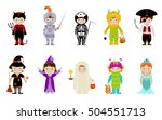 big collection of cute little... | Shutterstock .eps vector #504551713