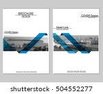 vector brochure cover templates ... | Shutterstock .eps vector #504552277