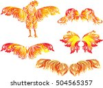illustration with red flame... | Shutterstock .eps vector #504565357