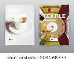 coffee cup cafe white... | Shutterstock . vector #504568777