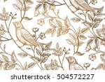 vintage flowers  branches ... | Shutterstock .eps vector #504572227