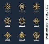 vector luxury logo template set ...   Shutterstock .eps vector #504574117