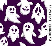 happy halloween seamless... | Shutterstock .eps vector #504581473