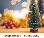 christmas tree isolated on...   Shutterstock . vector #504583057