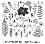 collection design elements with ... | Shutterstock .eps vector #504586033
