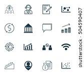 set of 16 universal editable... | Shutterstock .eps vector #504590407