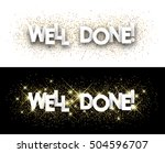 well done paper banner with... | Shutterstock .eps vector #504596707