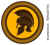 ancient greek helmet with a... | Shutterstock .eps vector #504626743