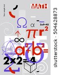 mathematics. vector cover. a... | Shutterstock .eps vector #504628873