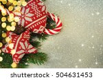 family holiday  christmas tree... | Shutterstock . vector #504631453