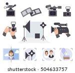 photo and video studio vector... | Shutterstock .eps vector #504633757