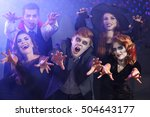 Young People In Costumes Havin...
