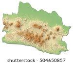 relief map   west java ... | Shutterstock . vector #504650857
