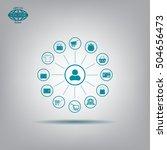 shopping icon set. vector... | Shutterstock .eps vector #504656473