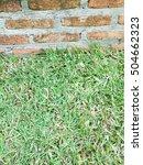 orange brick wall and green... | Shutterstock . vector #504662323