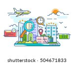 booking reserve hotel | Shutterstock .eps vector #504671833