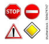 road signs | Shutterstock .eps vector #504679747