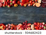 food frame constructed with red ... | Shutterstock . vector #504682423