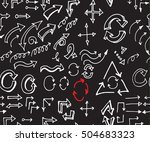 hand drawn doodle seamless... | Shutterstock .eps vector #504683323