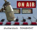 microphone in radio studio | Shutterstock . vector #504684547
