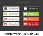 subscribe button.bright flat... | Shutterstock .eps vector #504685933