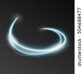 light speed at motion. blurry... | Shutterstock .eps vector #504688477