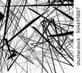 chaotic random edgy pattern.... | Shutterstock . vector #504695887