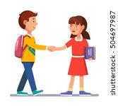 School Students Boy And Girl...