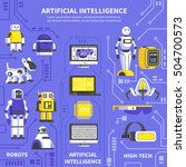 artificial intelligence... | Shutterstock .eps vector #504700573