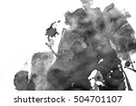 grunge ink stains on white paper   Shutterstock . vector #504701107