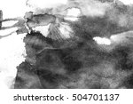 grunge ink stains on white paper   Shutterstock . vector #504701137