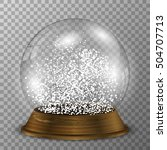 crystal snow globe on wood... | Shutterstock .eps vector #504707713