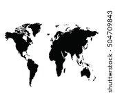world map vector illustration... | Shutterstock .eps vector #504709843