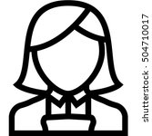 maid icon | Shutterstock .eps vector #504710017