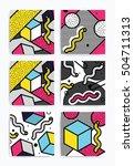 colorful pop art geometric... | Shutterstock .eps vector #504711313