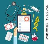 medical flat vector background... | Shutterstock .eps vector #504712933